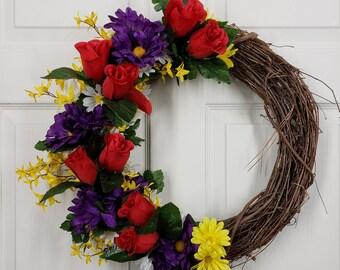 Grapevine door hanger, grapevine wreath, grapevine door decor, grapevine decoration, grapevine door wreath