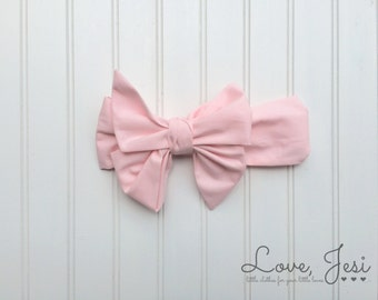 Pink Baby Bow Headband, Baby Girl Headwrap, Toddler Hair Bows, Bows for Babies, Toddler Girl Hair Accessories, Big Bow Headband, Pink Fabric