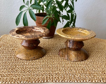 Mexican Marble Candle Holders