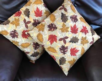 Autumn Leaves Pillow Pair