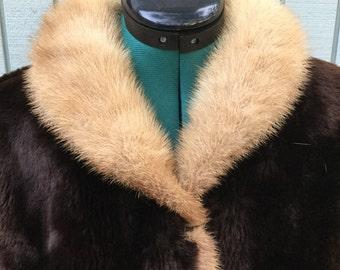 50's Sheared Sheep Mutton Fur Coat,Size M, Block & Kuhl Co