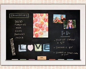 Chalkboards   Magnetic Chalkboards   Framed Chalkboards   White Framed Chalkboards   Custom Chalkboards - White Driftwood Frame