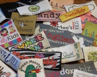 100  Custom Woven Labels - YOUR OWN ARTWORK - Up to 8 Colors - Made in the Usa