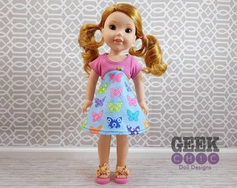 "Flutterby Dress, fits 14.5"" dolls"