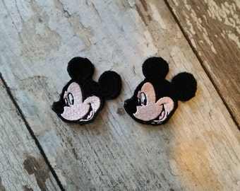 READY TO SHIP!!! Mickey Mouse Inspired Embroidered Iron On Patch - Set of 2! Ready to ship!
