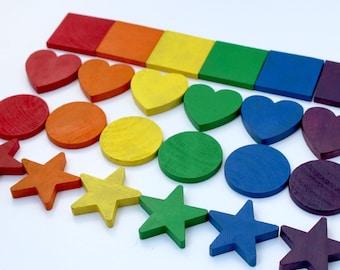 Rainbow Shapes Sorting Set