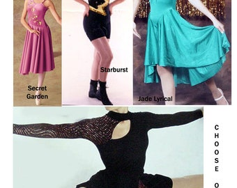 Dance Costumes Large Child, Small and Medium Adults Secret Garden, Starburst, Drops of Jupiter, Jade Lyrical (includes shipping in the US)