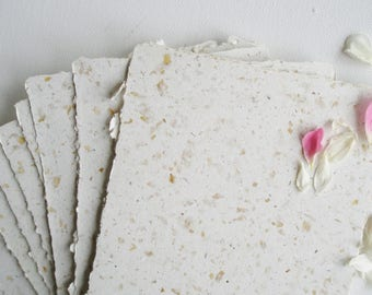 Recycled Paper, Handmade, 20 Sheets Paper, petals. rose petals, paper, homemade paper, paper sheets, A5 Paper, Recycled Paper