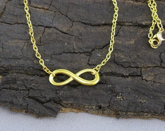Bracelet Necklace Infinity Gold