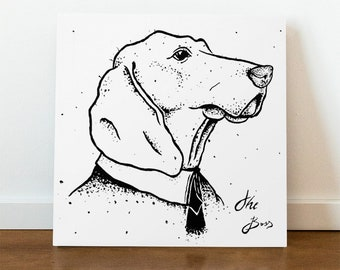 The Boss - A Dogs painting - Acrylic Painting on Canvas - 50 x 50 cm, limited edition (1 item) hand signed