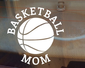 Basketball Decal, Basketball Mom Decal, Basketball Dad Decal, Car Decal, Sports Decal, Laptop Sticker, Laptop Decal, Vinyl Decal, Sticker