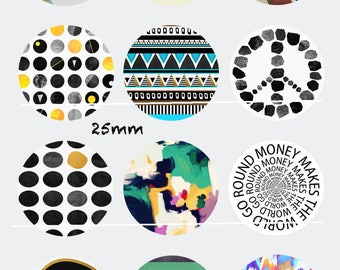 CT84 Money makes the world go round Images/designs/collage 12 digitals 30/25/20/18/16/15/14/12/10/8 mm cabochon round/square/oval