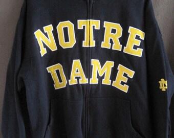 Vintage Notre Dame 90's Zip-Up Sweat Shirt