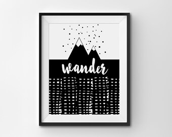 Wander Mountains Print