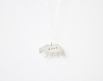 Mama Bear Necklace // Sterling Silver