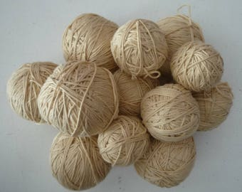 8 yarn pure cotton beige light - 500 gr