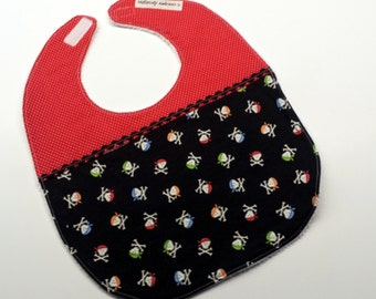 Baby Bib-Baby Boy Bib-Pirates-Toddler Bib-Baby Gift