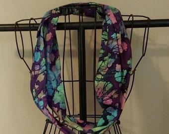 Stoff-Loop-Schal lila Batik