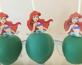 Mermaid Chocolate Covered Apples