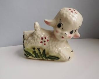 Vintage 1940s lamb planter Pottery lamb pot