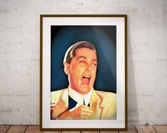 Ray Liotta Henry Hill Goddfellas Mafia Crime Mob Movie Cult Classic Pop Culture Wall Art Print