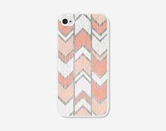 Peach iPhone 5 Case - Coral iPhone 5c Case - Geometric Phone Case - Herringbone iPhone Case - Herringbone iPhone 5 Case - iPhone 4 Case