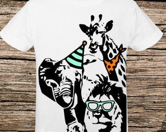 Birthday Zoo Party Shirt for Brea