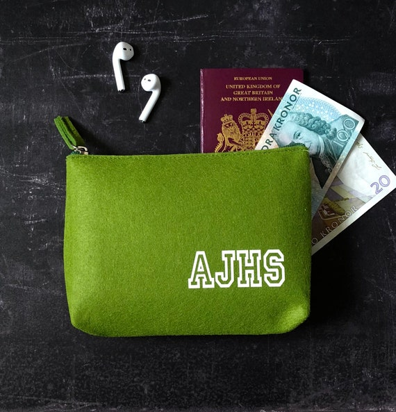 Felt Pouch with Personalised Initials