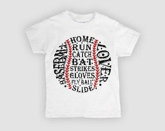 Baseball Lover, Baseball, baseball tee, boy baseball shirt, youth baseball
