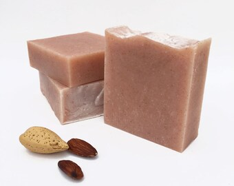 Almond Soap, Handmade Soap, Gift for Her, Cold Process Soap, Bar Soap, Vegan, Palm Free Soap, Paraben Free