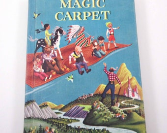 Magic Carpet Vintage 1950s or 1960s Children's Reader or Literature Textbook by Eleanor M. Johnson and Leland B. Jacobs Merrill Books