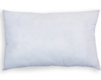 Pillow insert 12X20 inches, non woven polyester base cover with polyfill filling, weight 400gms