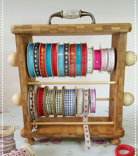 Crafting Wooden Ribbon Rack / Ribbon Organiser