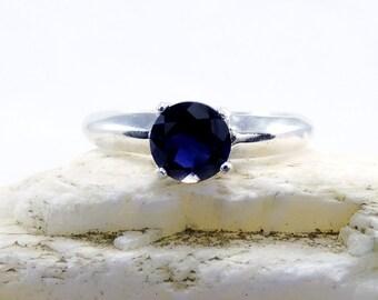 Iolite ring, ring iolite, sterling silver iolite ring, gemstone ring, iolite, ring size 5 6 7 8 9 10 11