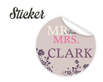 Custom wedding stickers