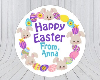 Easter Gift labels, Personalised easter stickers, Happy Easter Stickers, Happy Easter Labels, Easter stickers, Easter favour labels 250