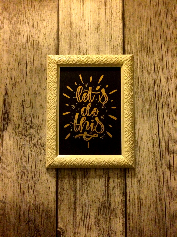 Lassen Sie uns dazu das goldene Öl-Malerei Hand made