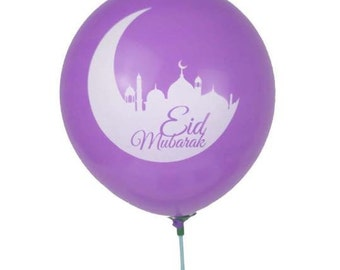 15 assorted color Eid balloons