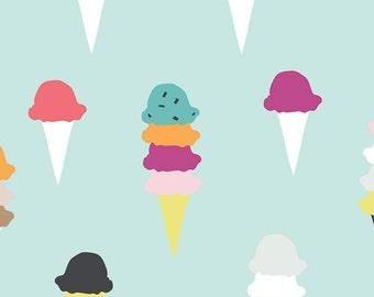 "Ice Cream Fabric - Boardwalk Delight by Dana Willard for Art Gallery ""I scream, You scream"" 100% premium cotton, BWD-789"