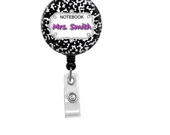 Retractable Badge Reel - Personalized ID Badge - Badge Reels - Teacher Badge Reel - Custom Teacher ID Badge