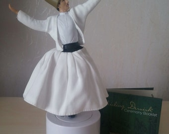 "Sufi Whirling Dervish 9"" with Music"