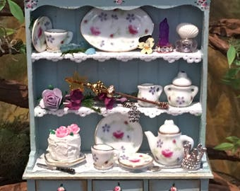 Queen of the Fairies, miniature fairy cupboard, hutch