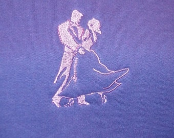 Bride & Groom First Dance Blanket Ballroom Dancers Embroidered on a Blanket with Couple's Name - Made to Order