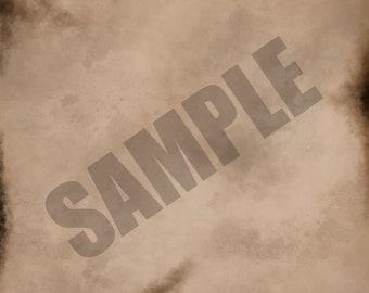Red Brown Burnt Texture Single Sheet Digital Scrapbook Paper
