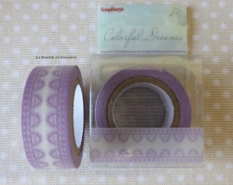 ROLL 8 m tape lace scalloped Washi Tape!