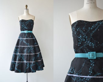 Nocturne dress | vintage 1950s dress | strapless 50s party dress