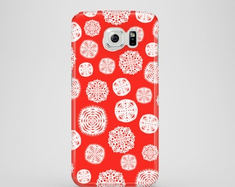 Paper Snowflakes Samsung Galaxy S7 case, festive Samsung Galaxy S6 case, galaxy S6 Edge, S5, iPhone X, iPhone 8, iPhone 7, iPhone 6, 6S, SE