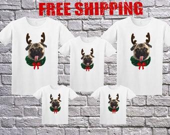 Family Funny Pug Ugly Christmas White Long Sleeve and T-shirt, Pug Funny Christmas shirt, PUG Longsleeve, Pug Sweater, Pug Christmas