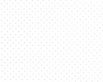 Modern Background Paper Steel Off White Pindot 1588 13 by Brigitte Heitland of  Zen Chic for Moda