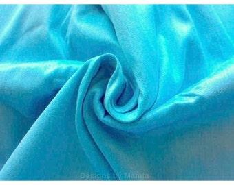 Electric Blue Dupioni Indian Art Silk Fabric, Curtain Material, Bridesmaid Fabric, Pure Silk Dupioni Fabric By Yard, Solid Shinny Fabric